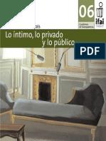 Lo íntimo, lo público y lo privado, cuadero 06 IFAI