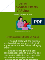 Unit 16-Psychological Effects of Aging