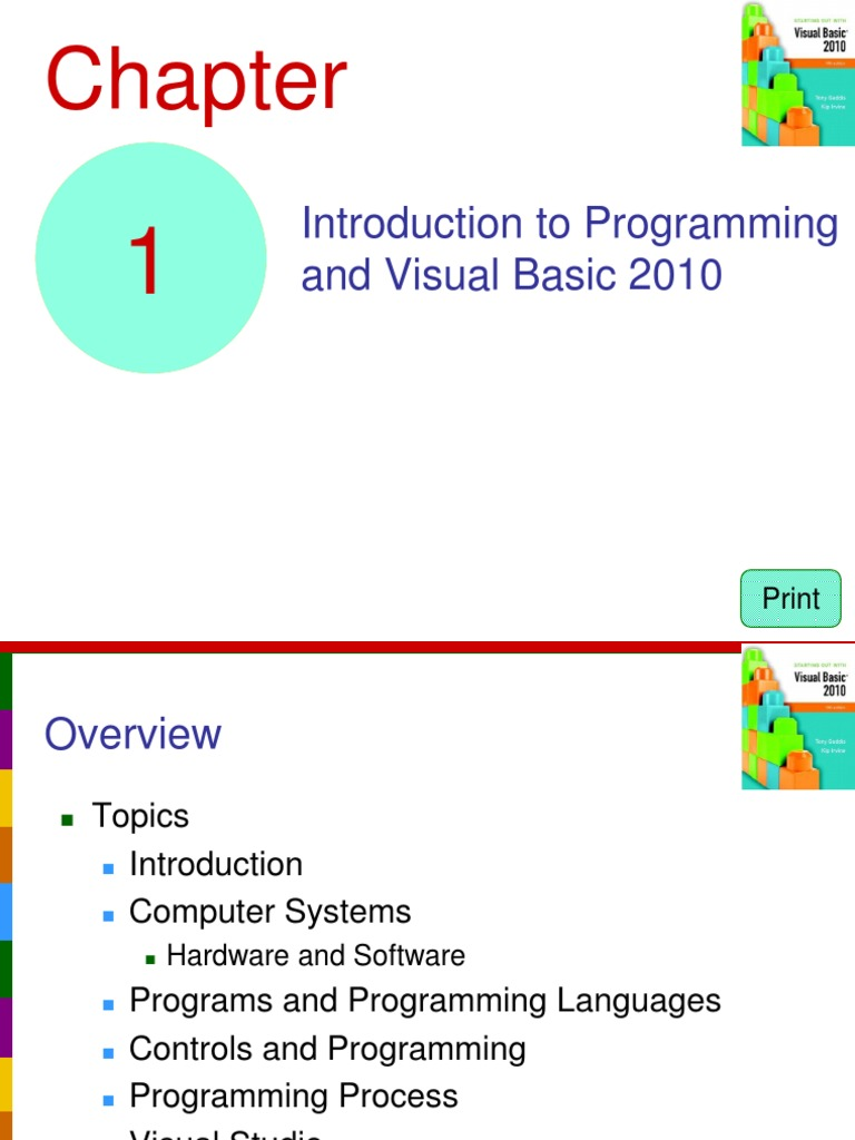Introduction to Programming and Visual Basic 2010: Print