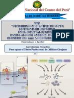 Tesis Criterios Diagnósticos Lupus Eritematoso Sistémico