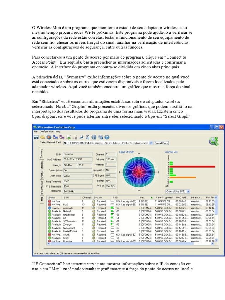 como usar wirelessmon 4.0
