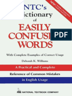 NTC's Dictionary of Easily Confused Words
