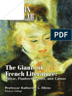 The Giants of French Literature_ Balzac, Flaubert, Proust, And Camus - Katherine L. Elkins