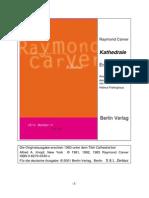 Carver Raymond - Kathedrale - Erzählungen
