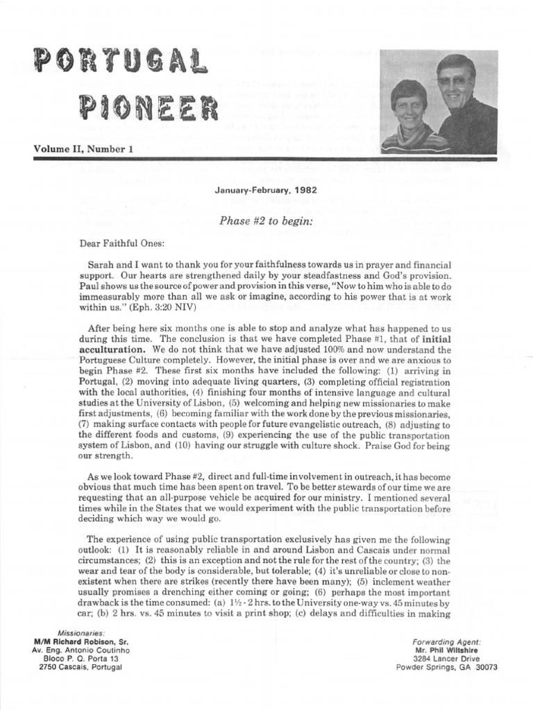 Robison-Richard-Sarah-1982-Portugal pdf   Prayer   Portugal