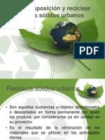 Manejo, disposición y reciclaje de residuos sólidos urbanos