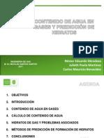 CONTENIDO DE AGUA EN GASES Y PREDICCIÓN DE