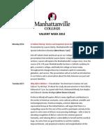 Manhattanville Valiant Week 2013