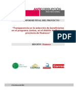 Informe Final Huánuco