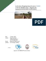 Hydrologie Et Choix de Sites d Implantation de Micro-barrages Autour de Leo Burkina Faso