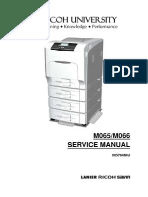 Ricoh Printer Misfeed Tray 1 Error