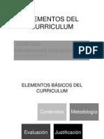 Elementos Del Curriculum