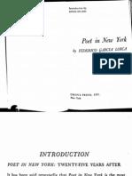 """Del Río, """"Intro to Lorca, Poet in NY"""" (Sel.)"""