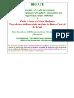 Debate  Projeto de Transposição das Águas do Rio  São Francisco