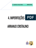 4. Imperfeicoes No Arranjo Cristalino