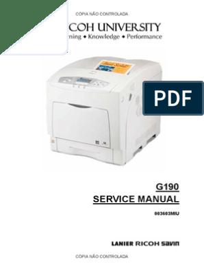 Ricoh Aficio SP C420DN SERVICE MANUAL | Secure Digital | Fax