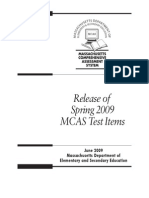 Massachusetts State Test for Grade 3 Sample