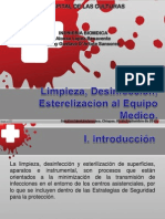 Limpieza,Desinfeccion y Esterilizacion a Equiposmedicos