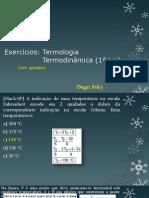 Termologia e Termodinâmica - Exercícios (PDF)