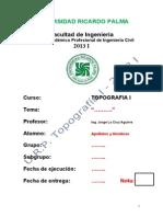 Modelo Presentacion de Informe 2013 i