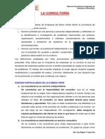I.- LA CONSULTORÍA