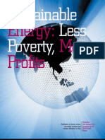 Sustainable Energy - Less Poverty More Profits