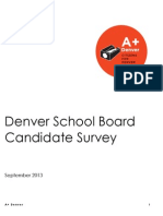 DPS School Board Candidate Survey - September 2013