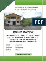 Pip Mejoramiento de La Produccion Mediante Agroforesteria en Yantalo 2013