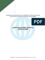 2-  Especificaciones TÚcnicas Particulares