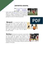 Deportes en Equipo, Pareja e Individual