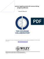 Multiple-micronutrient supplementation for women during pregnancy