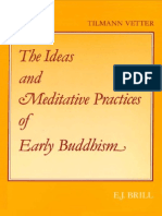 Ideas Meditative Practices Early Buddhism Vetter