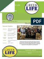 Greek Life Newsletter