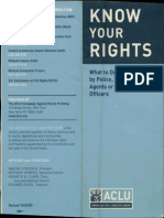 ACLU Pamphlet Know Your Rights