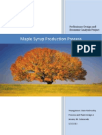 Maple Syrup Production Report