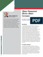 Alliance Management-Effective Alliance Governance