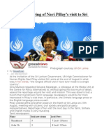 Media monitoring of Navi Pillay's visit to Sri Lanka