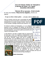 Asamblea Informativa Bda Del Palmar