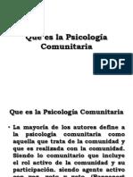 Que es la Psicología Comunitaria
