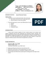 Ace Laureta-updated Resume 6-15-2009