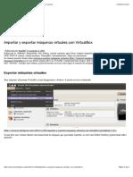 7-Importar y exportar máquinas virtuales con VirtualBox