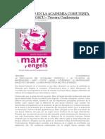 Marxismo en La Academia Comunista de Moscu