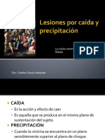 LESIONES POR CAÍDA Y PRECIPITACIÓN