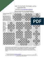 Interlaces cross stitch pattern