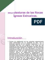 Microtexturas de las Rocas Ígneas Extrusivas