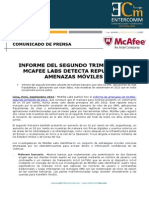 NP McAfee -Informe del segundo trimestre de McA fee Labs detecta repunte en amenazas móviles