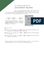 The Gram Schmidt Algorthm