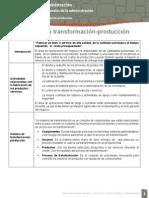 Objetivos de la transformación-producción