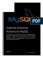 Importar-Exportar Datos en MySQL