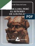Cronicas Del Peru - Pedro de Ciena de Leon